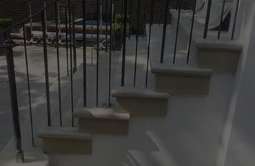 Custom made Yorkstone steps